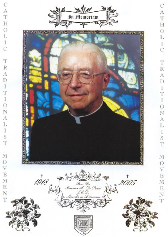 Father Gommar A. De Pauw.  Click to continue.